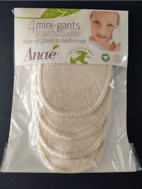 Mini-gants démaquillants coton Bio microfibré