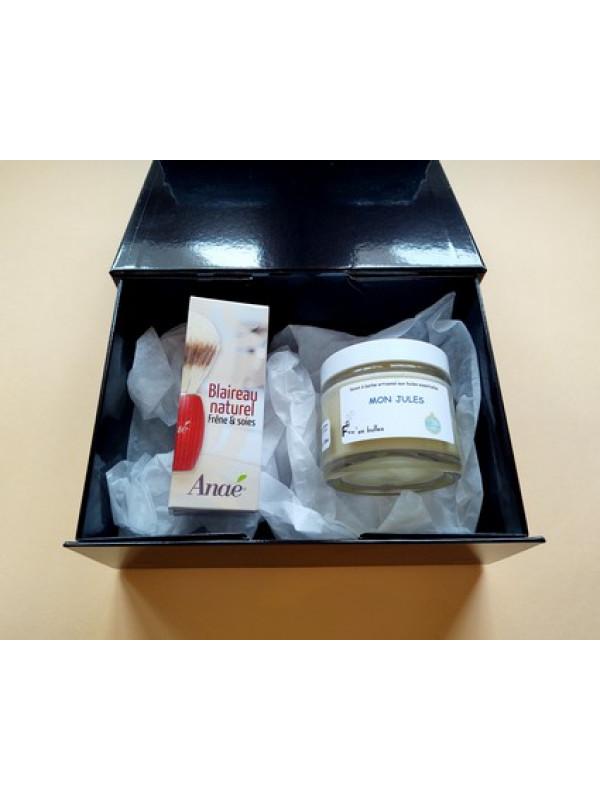 kit rasage traditionnel savon+blaireau