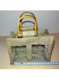Panière à garnir jute et poignées bambou 2 ou 3 fenêtres